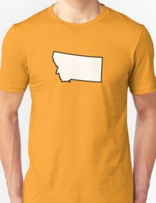 Montana	State Outline T-Shirt