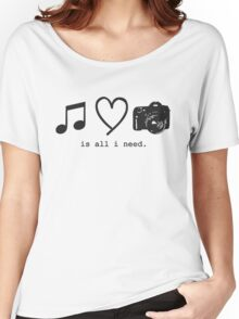 Music, Love, and Photography Women's Relaxed Fit T-Shirt