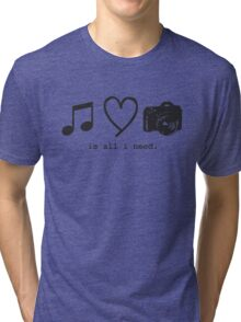 Music, Love, and Photography Tri-blend T-Shirt
