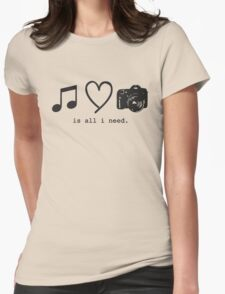 Music, Love, and Photography Womens Fitted T-Shirt