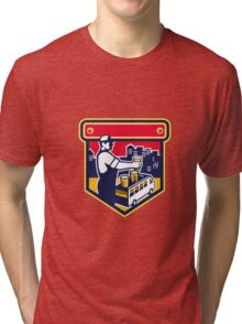 Bartender Beer City Van Crest Retro Tri-blend T-Shirt