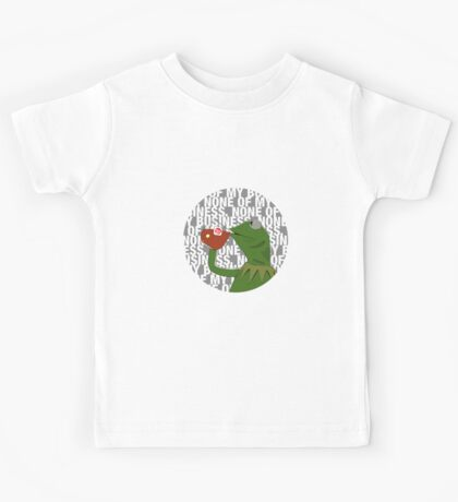 Kermit Sipping Tea (But that's none of my business) Kids Tee