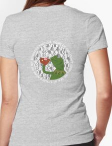 Kermit Sipping Tea (But that's none of my business) Womens Fitted T-Shirt
