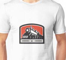 Steam Train Locomotive Star Crest Retro Unisex T-Shirt