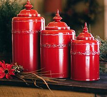 Red Pots by Vintagee