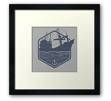 Marine emblems of badges Framed Print