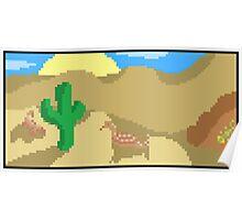 Pixel Desert Scenery Poster