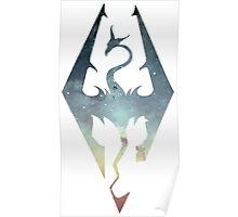 Skyrim Logo - Blue gradient Poster