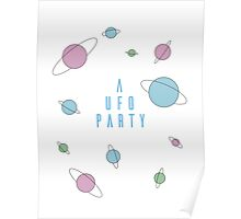 A UFO PARTY - X FILES Poster