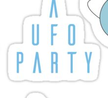 A UFO PARTY - X FILES Sticker