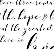 Corinthians 13:13 Sticker