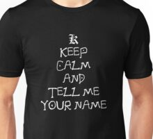 Keep Calm And Tell Me Your Name Anime Manga Shirt Unisex T-Shirt