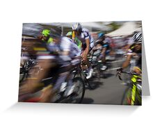 Bicycle race Greeting Card