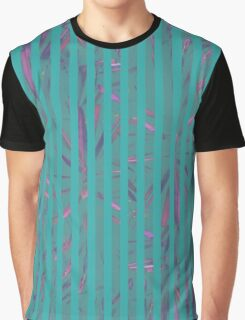 Tropical Stripes Graphic T-Shirt