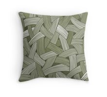 Olive Texture Throw Pillow