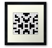 Crosswords Thinking Framed Print