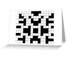 Crosswords Thinking Greeting Card