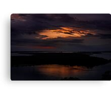 Rigby Island At Sunset Canvas Print