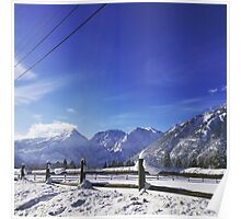 Winter Mountains Poster