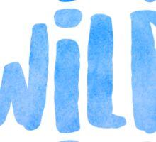 blue wild x 3 Sticker