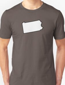 Pennsylvania State Outline T-Shirt