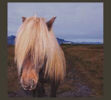 Icelandic Horse with impressing mane T-Shirt