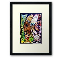 Windy Day Woman Framed Print