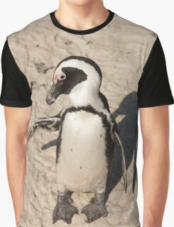 Penguin shadow boxing, South Africa Graphic T-Shirt