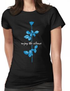 Enjoy The Silence - Blue Womens Fitted T-Shirt