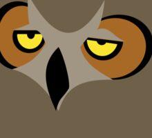 I DON'T CARE, funny annoyed owl design Sticker
