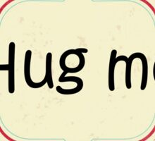 Red and blue hug me pattern Sticker