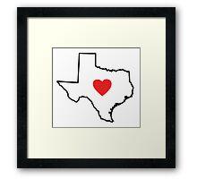 I Love Texas Framed Print