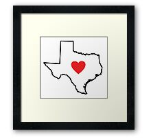 I Love Texas Framed Print