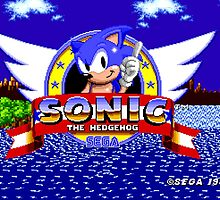 Sonic the Hedgehog (1991) Title Screen by James Hall