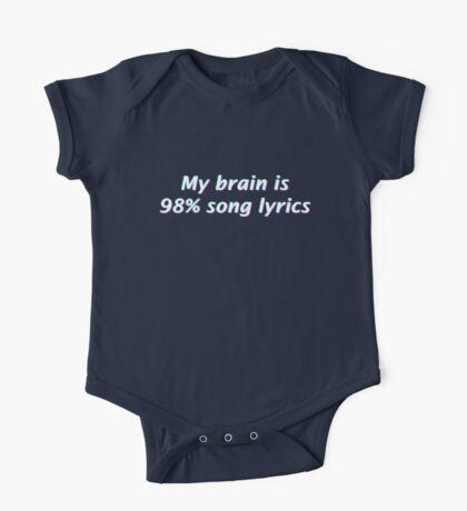 My Brain is 98% Song Lyrics One Piece - Short Sleeve