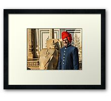 Indian man wearing traditional clothing Framed Print