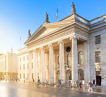 Golden Sunshine On The Streets Of Dublin Ireland by Mark Tisdale