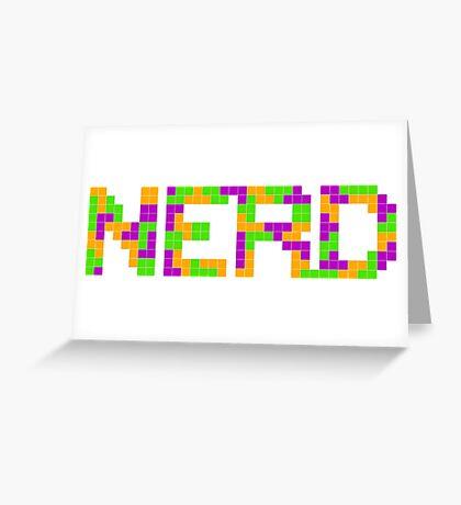 Tetris Nerd Greeting Card