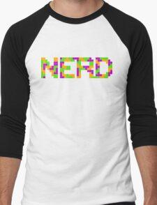 Tetris Nerd Men's Baseball ¾ T-Shirt