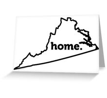 Virginia. Home. Greeting Card