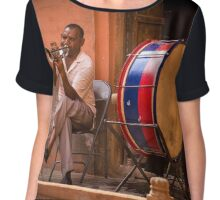 Indian orchestra in the street Chiffon Top
