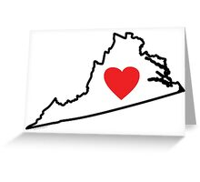I Love Virginia Greeting Card