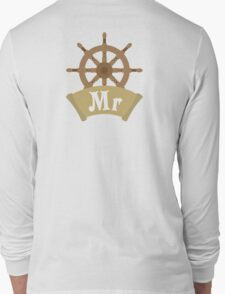 Mr and Mrs MISTER Wedding Honeymoon Cruise Just Married Long Sleeve T-Shirt