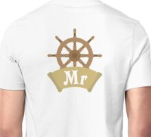 Mr and Mrs MISTER Wedding Honeymoon Cruise Just Married Unisex T-Shirt