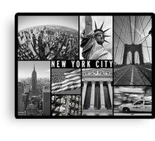 new york city travel poster Canvas Print