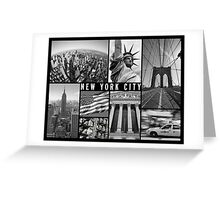 new york city travel poster Greeting Card