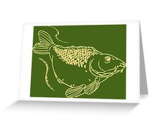 Carp Fishing Angling Fish Scales Illustration Greeting Card