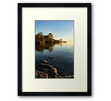 Early Morning Gold - Soft Fall Reflections Framed Print