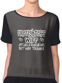 Firefighter's Wife Chiffon Top