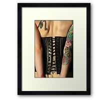 leather corset Framed Print